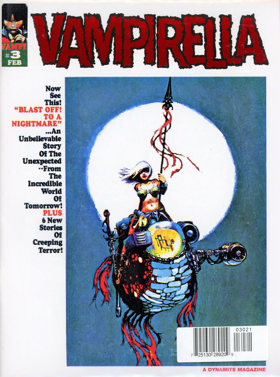 Vampirella Magazine #3 1969 Replica Edition Cover B Limited Red Foil Cover