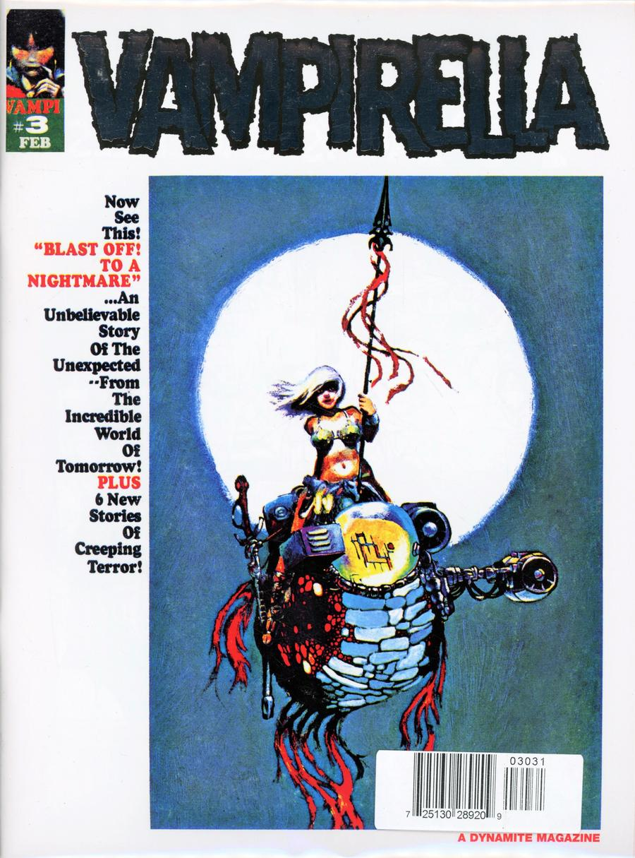 Vampirella Magazine #3 1969 Replica Edition Cover C Limited Platinum Foil Cover