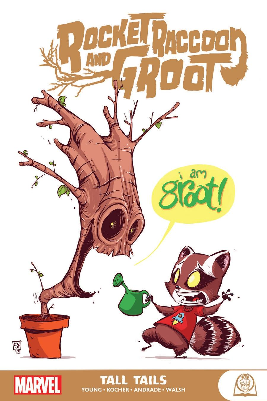 Rocket Raccoon And Groot Tall Tails GN
