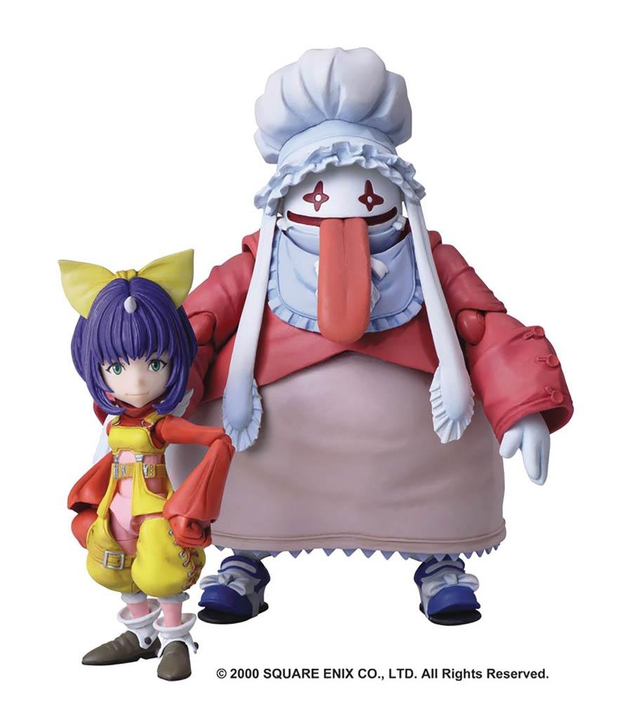 Final Fantasy IX Bring Arts Action Figure Set - Eiko Carol & Quina Quen