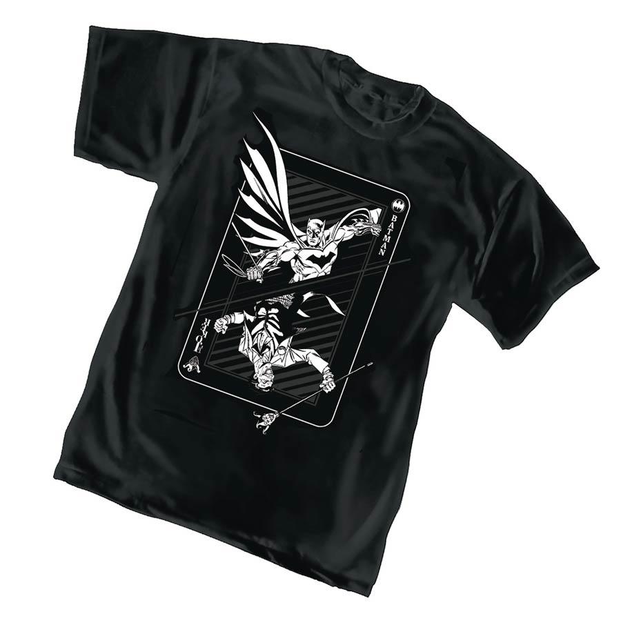 Batman/Joker Card Trick T-Shirt Large