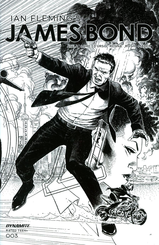 James Bond Vol 3 #3 Cover B Incentive Jim Cheung Black & White Cover