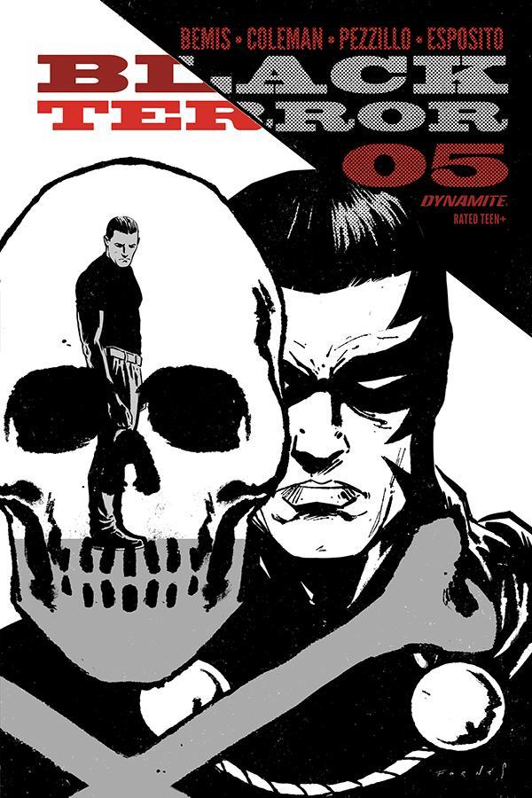 Black Terror Vol 4 #5 Cover E Incentive Jorge Fornes Black & White Cover