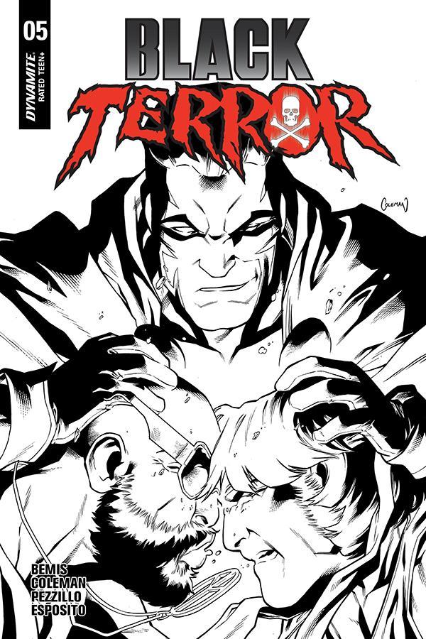 Black Terror Vol 4 #5 Cover F Incentive Ruairi Coleman Black & White Cover