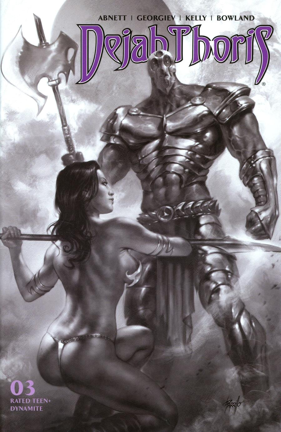 Dejah Thoris Vol 3 #3 Cover H Incentive Lucio Parrillo Black & White Cover