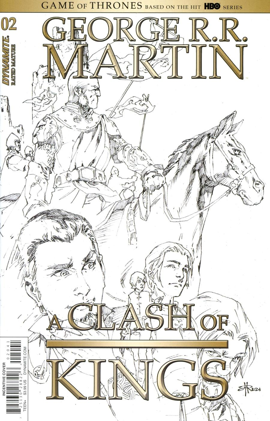 Game Of Thrones Clash Of Kings Vol 2 #2 Cover D Incentive Mel Rubi Black & White Cover