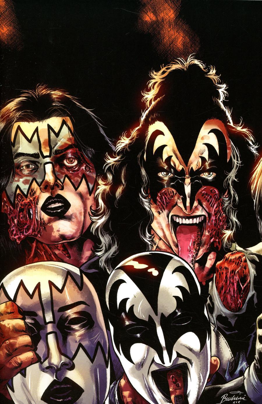 KISS Zombies #4 Cover J Incentive Rodney Buchemi Virgin Cover