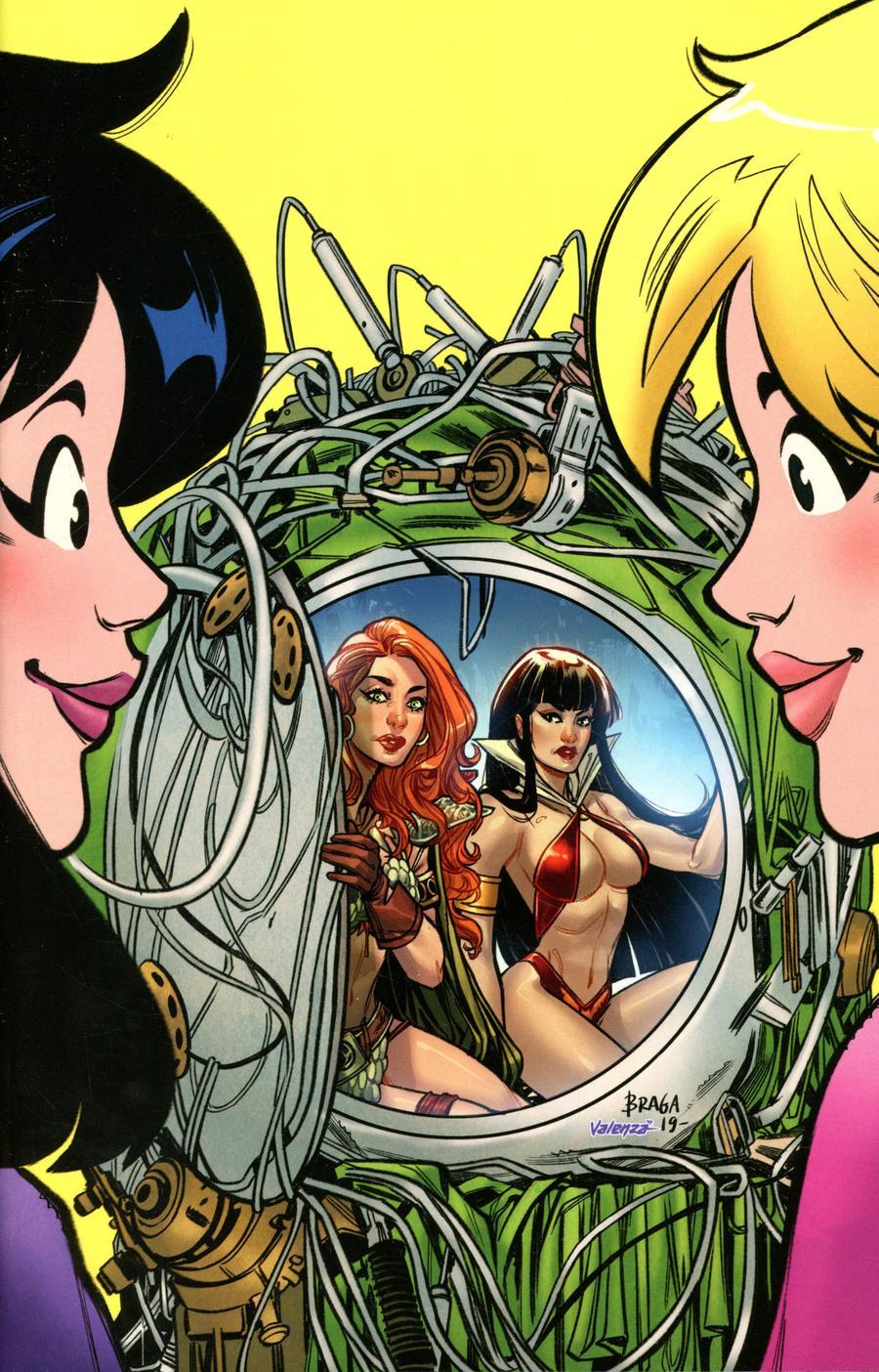 Red Sonja And Vampirella Meet Betty And Veronica #9 Cover L Incentive Laura Braga Virgin Cover