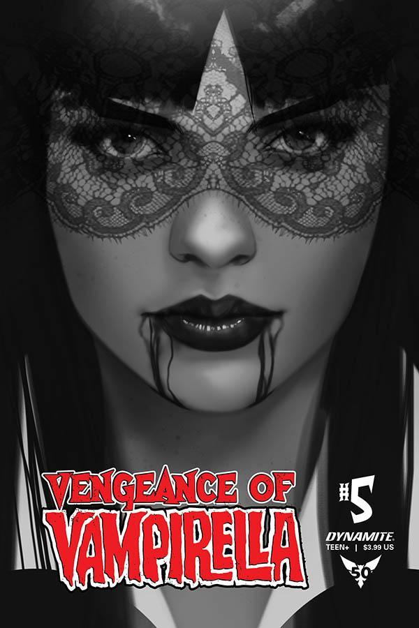 Vengeance Of Vampirella Vol 2 #5 Cover M Incentive Ben Oliver Black & White Cover