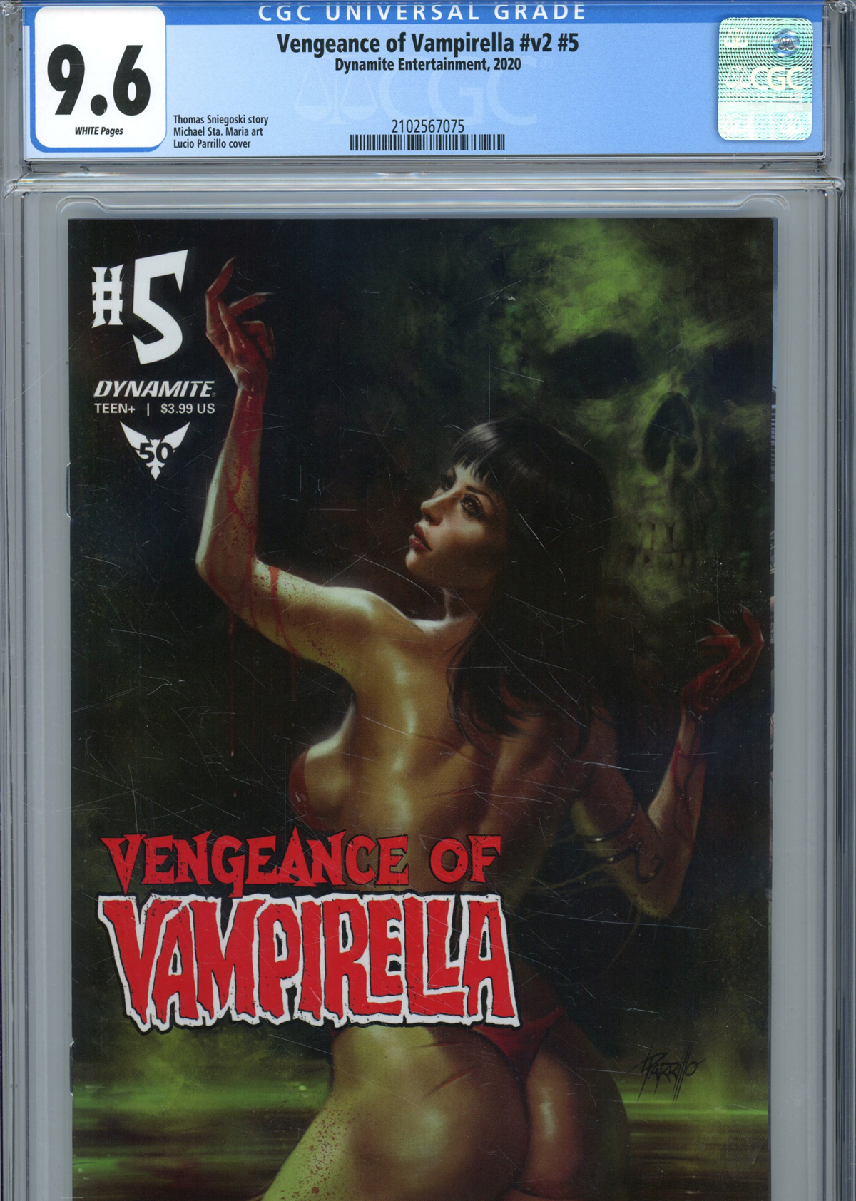 Vengeance Of Vampirella Vol 2 #5 Cover T Regular Lucio Parrillo Cover CGC Graded