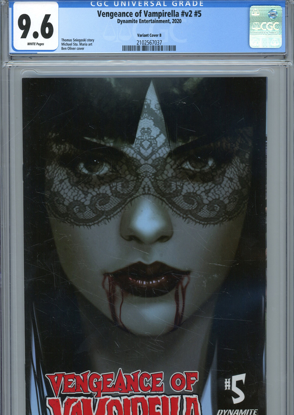 Vengeance Of Vampirella Vol 2 #5 Cover U Variant Ben Oliver Cover CGC Graded