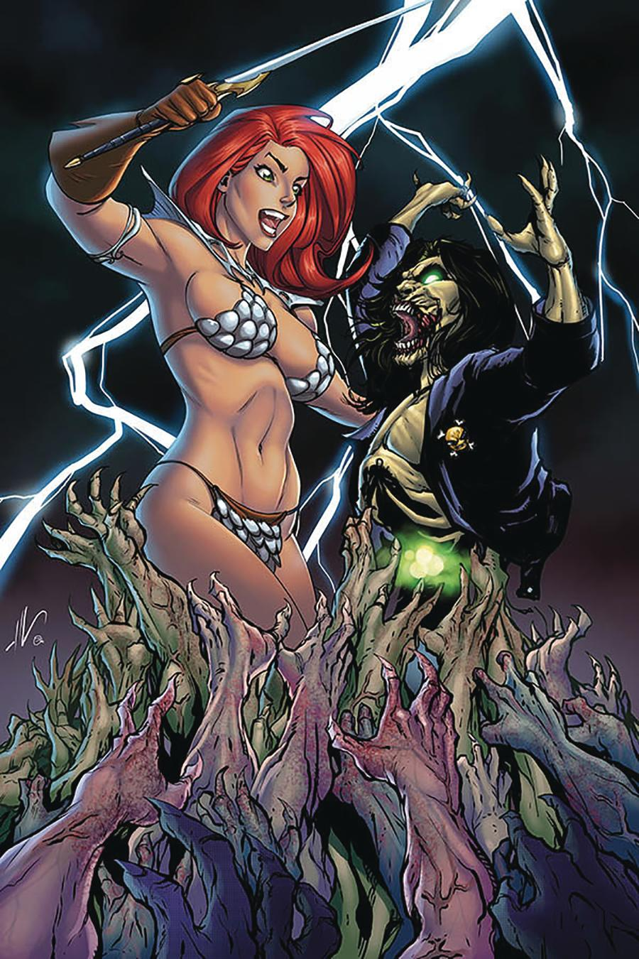 Red Sonja Age Of Chaos #2 Cover Z Limited Edition Ale Garza Virgin Cover