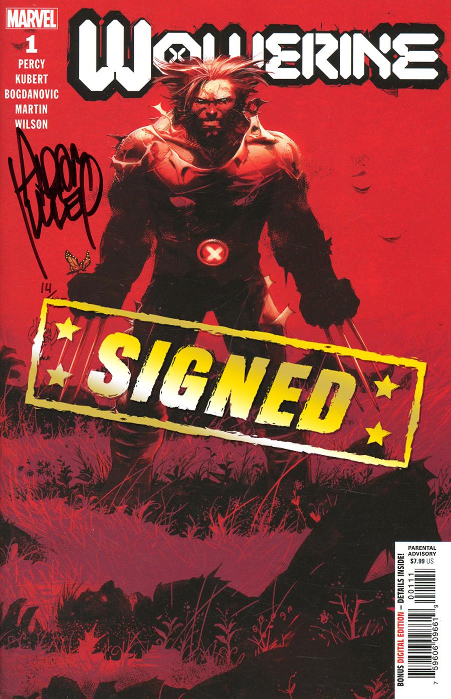 Wolverine Vol 7 #1 Cover P DF Signed By Adam Kubert (Dawn Of X Tie-In)