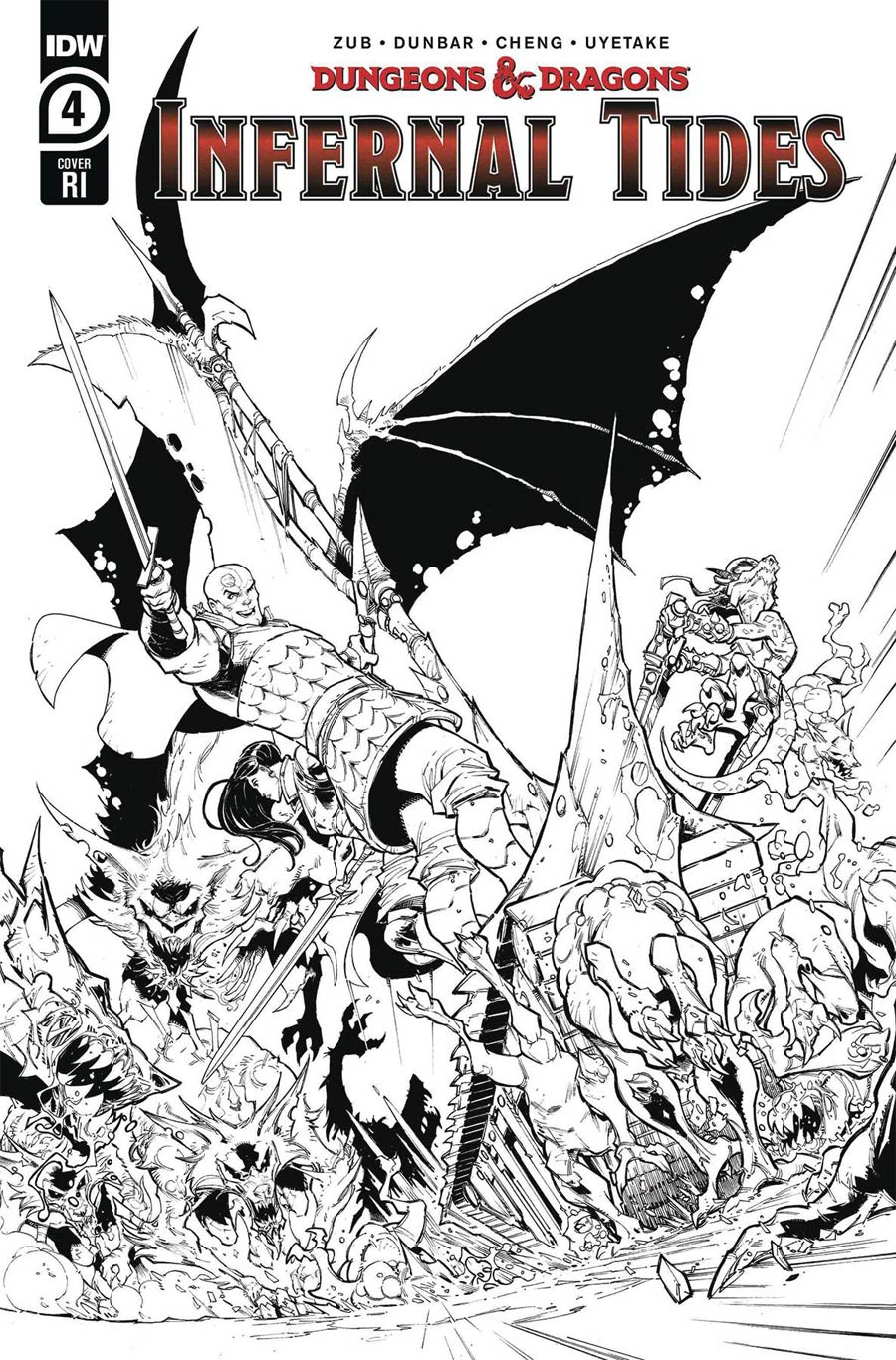 Dungeons & Dragons Infernal Tides #4 Cover C Incentive Max Dunbar Ink Cover