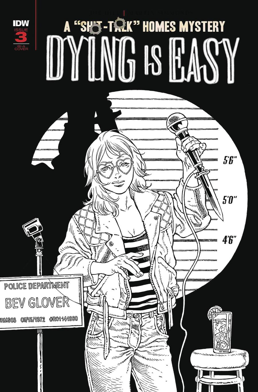Dying Is Easy #3 Cover C Incentive Gabriel Rodriguez Black & White Cover