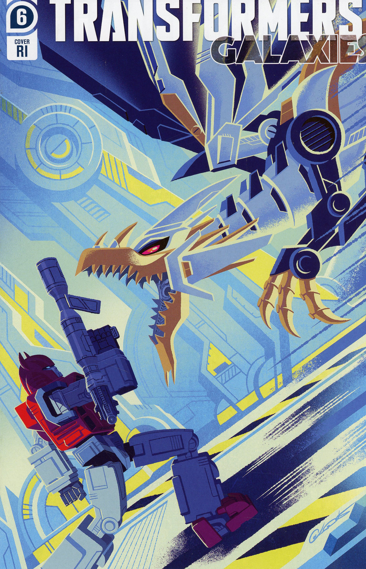 Transformers Galaxies #6 Cover C Incentive George Caltsoudas Variant Cover