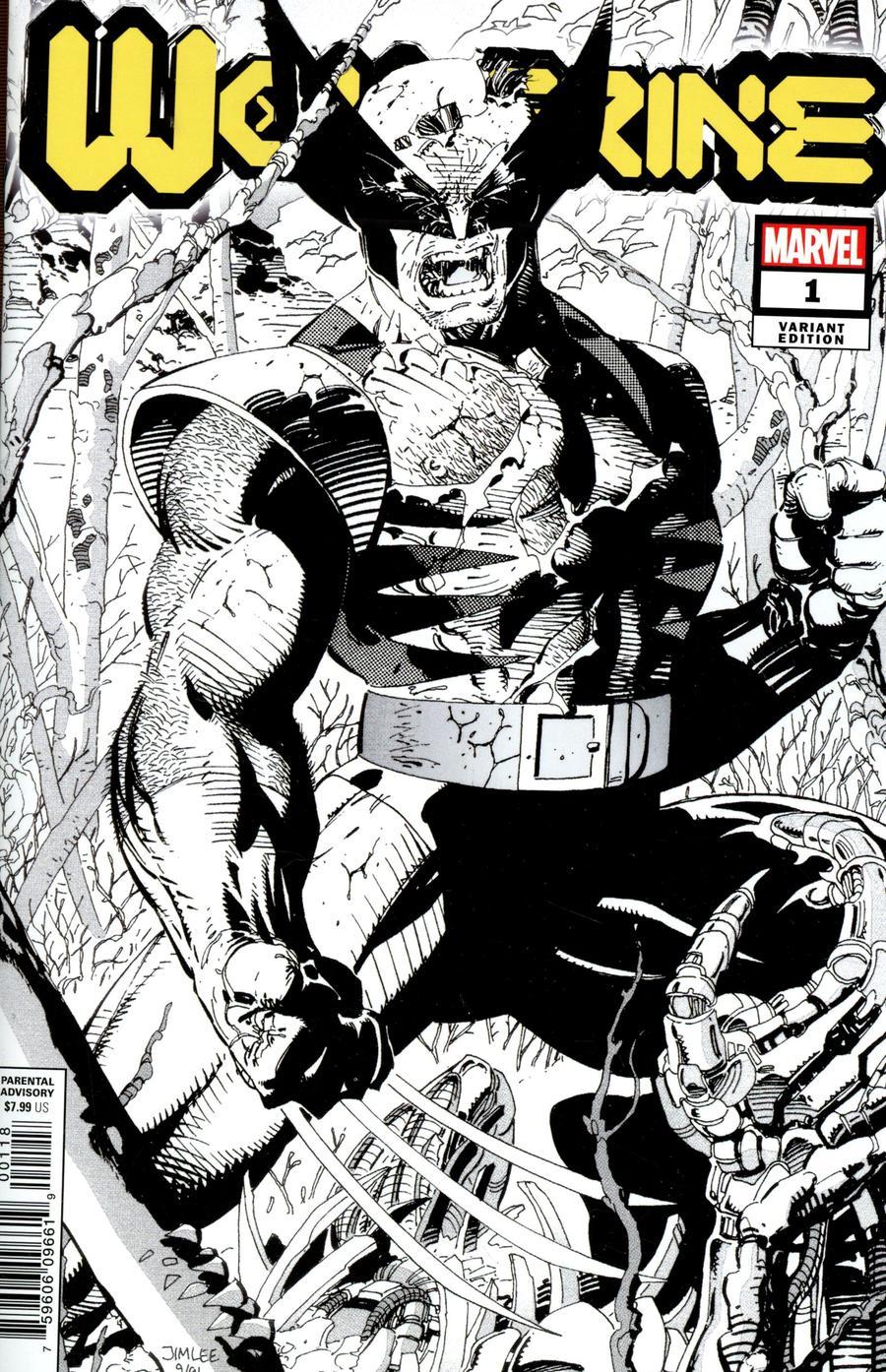Wolverine Vol 7 #1 Cover L Incentive Jim Lee Hidden Gem Sketch Variant Cover (Dawn Of X Tie-In)