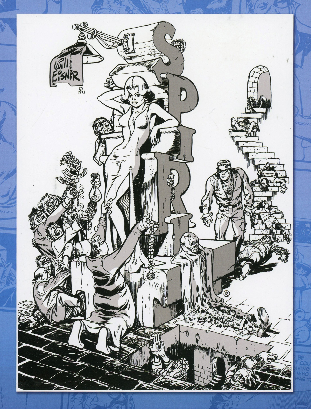 Spirit An 80th Anniversary Celebration TP Incentive Will Eisner Black & White Variant Cover