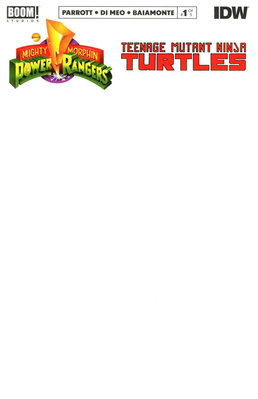 Mighty Morphin Power Rangers Teenage Mutant Ninja Turtles #1 Cover G Variant Blank Cover