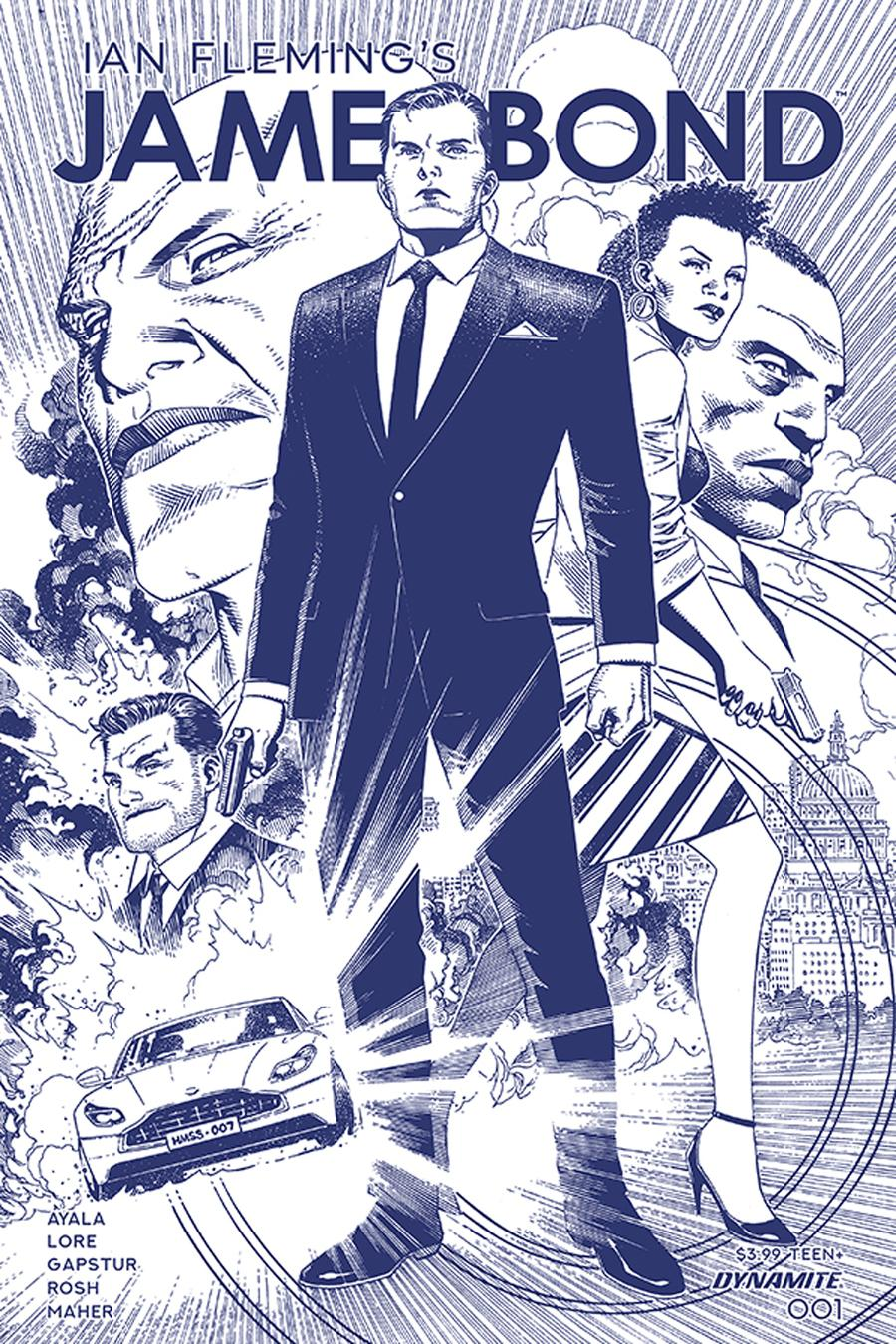 James Bond Vol 3 #1 Cover C Incentive Jim Cheung Tint Dressed Cover