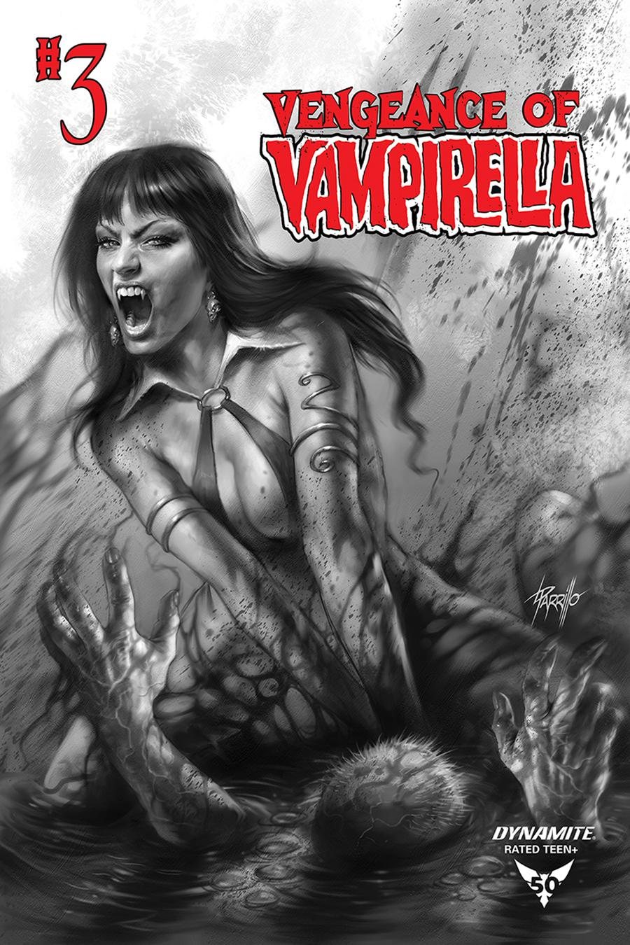 Vengeance Of Vampirella Vol 2 #3 Cover H Incentive Lucio Parrillo Black & White Cover