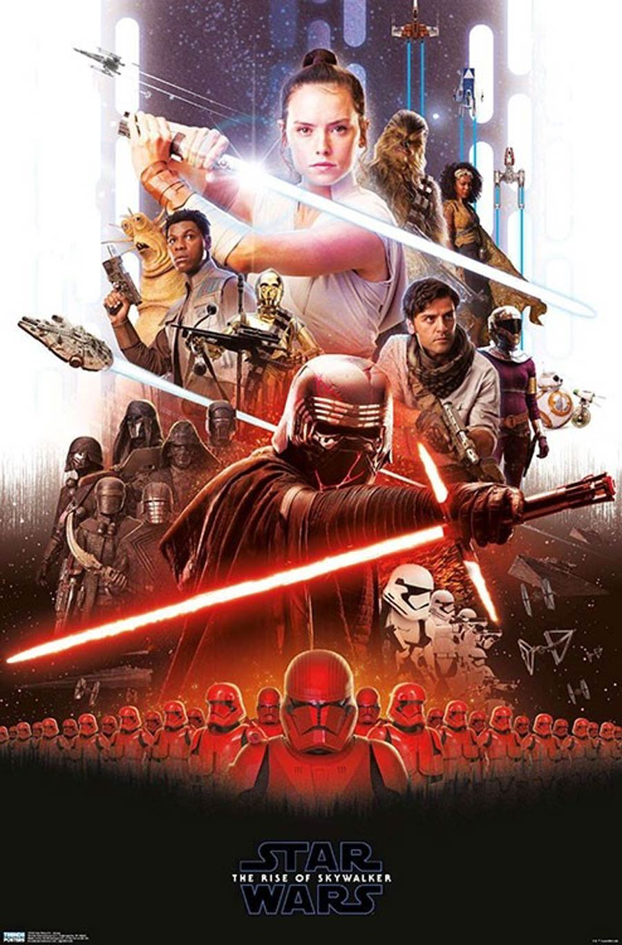 Star Wars The Rise Of Skywalker Group Wall Poster