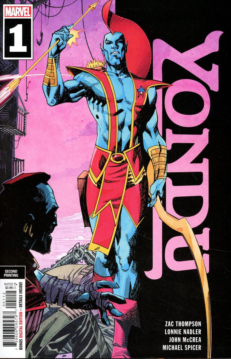 Yondu #1 Cover D 2nd Ptg John McCrea Variant Cover