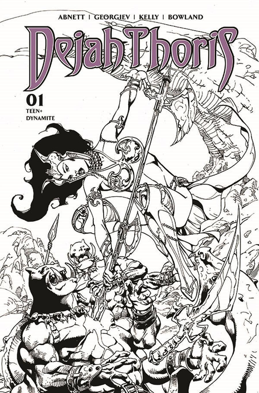Dejah Thoris Vol 3 #1 Cover H Incentive Roberto Castro Black & White Cover