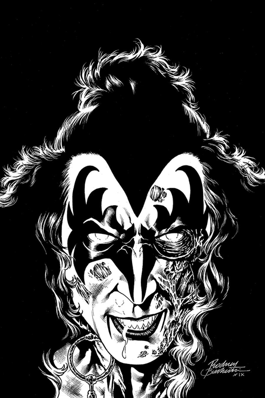 KISS Zombies #2 Cover J Incentive Rodney Buchemi Black & White Virgin Cover
