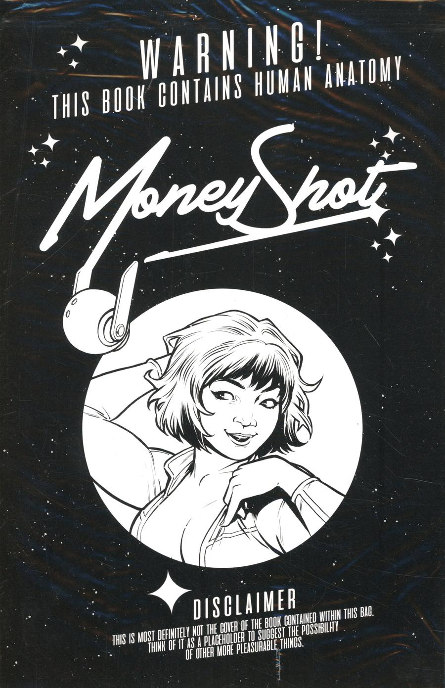 Money Shot #1 Cover I 2nd Ptg Variant Chris Burnham Black Bag Cover Without Polybag