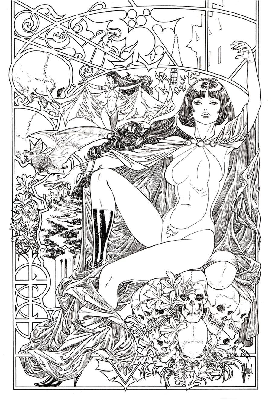 Vampirella Vol 8 #6 Cover M Incentive Guillem March Black & White Virgin Cover