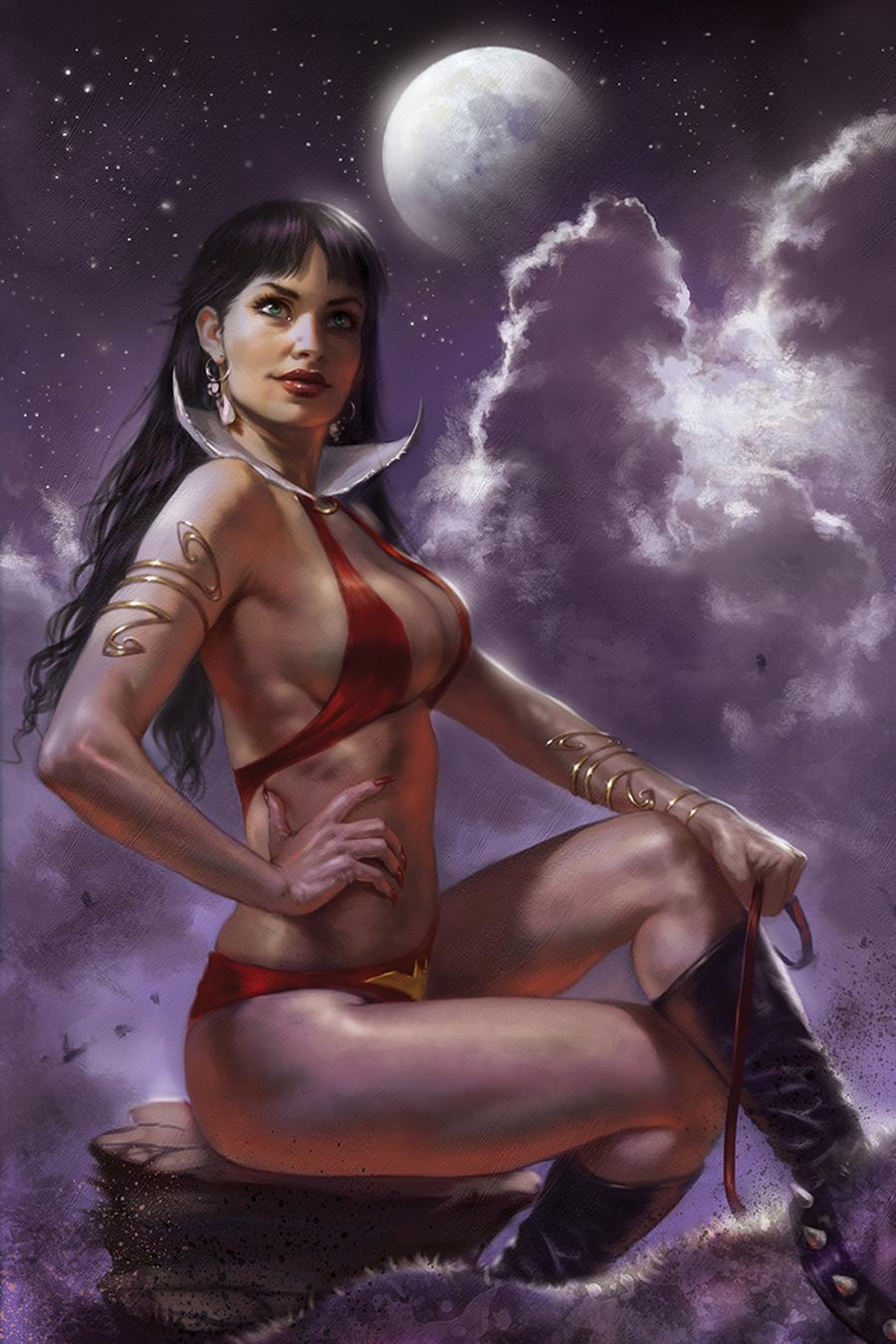 Vampirella Vol 8 #6 Cover Q Incentive Lucio Parrillo Sneak Peek Virgin Variant Cover