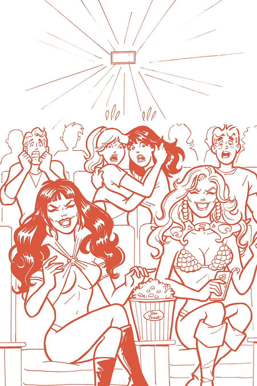 Red Sonja And Vampirella Meet Betty And Veronica #7 Cover J Incentive Dan Parent Virgin Tint Cover