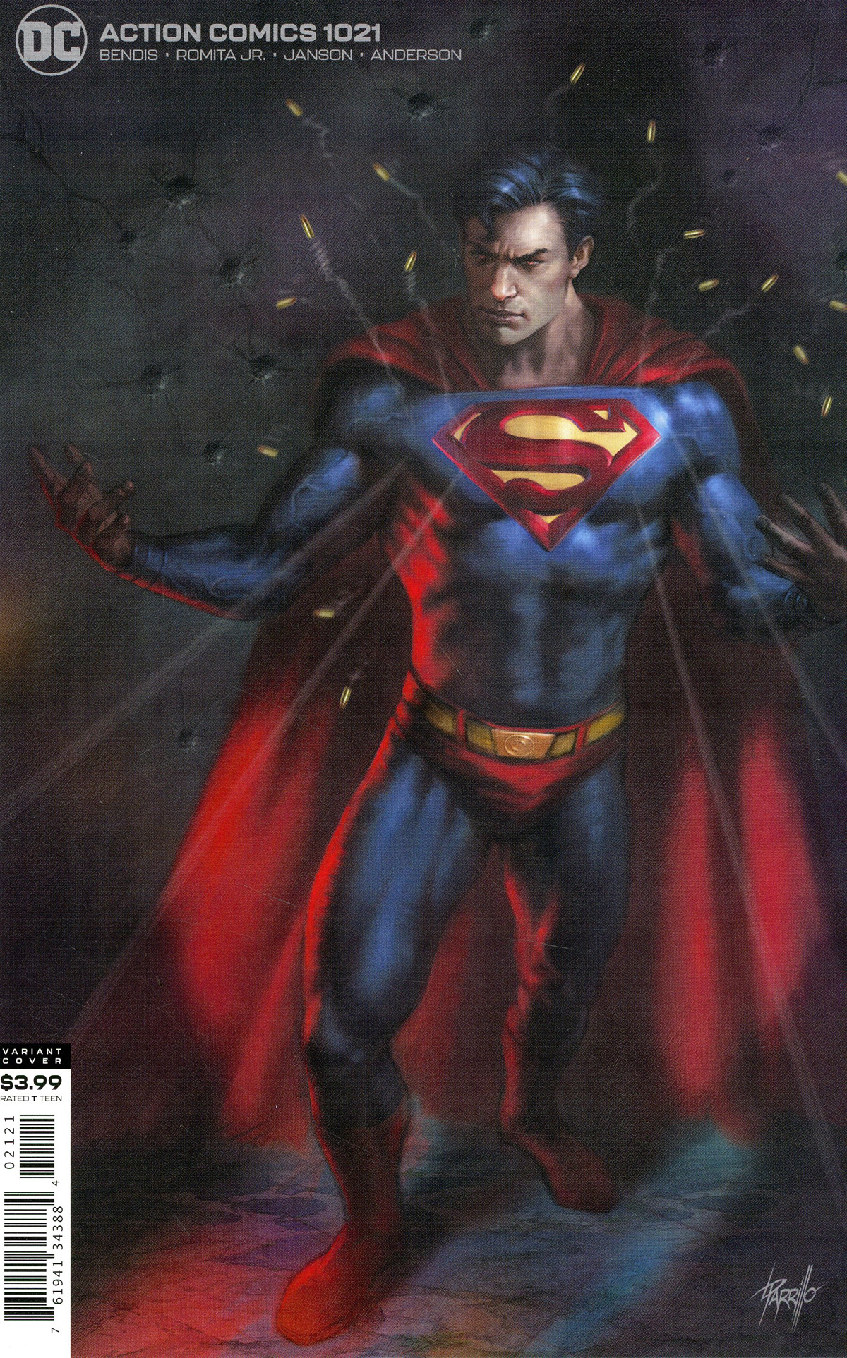 Action Comics Vol 2 #1021 Cover B Variant Lucio Parrillo Cover