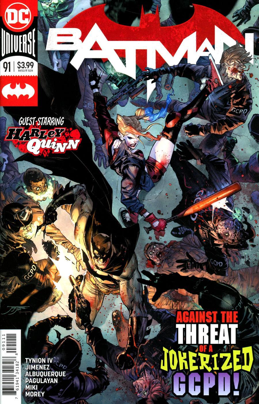 Batman Vol 3 #91 Cover A Regular Jorge Jimenez Cover