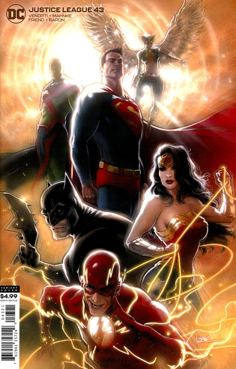Justice League Vol 4 #43 Cover B Variant Kaare Andrews Card Stock Cover