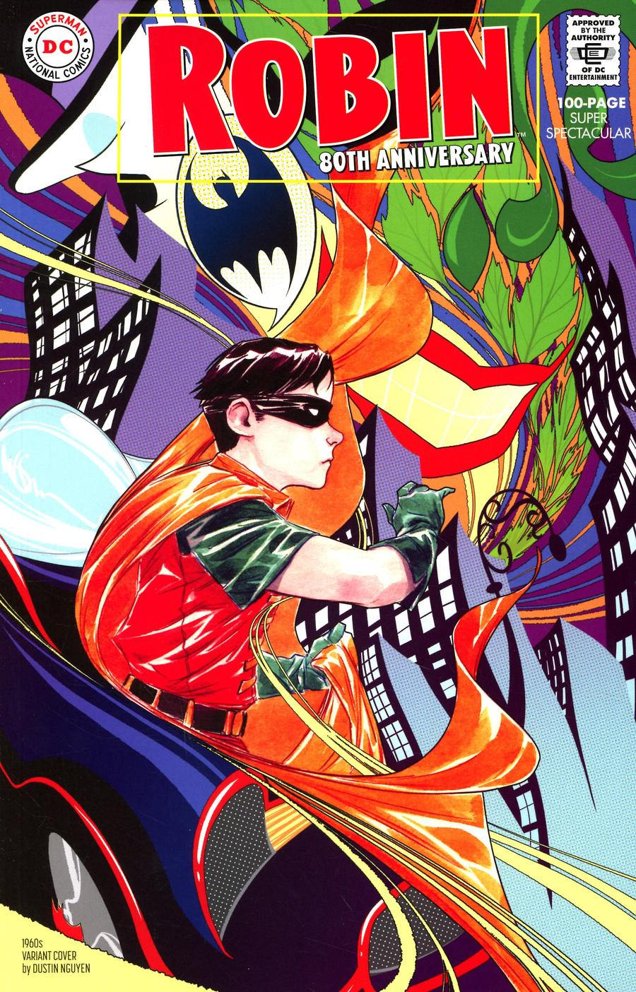 Robin 80th Anniversary 100-Page Super Spectacular #1 Cover D Variant Dustin Nguyen 1960s Cover