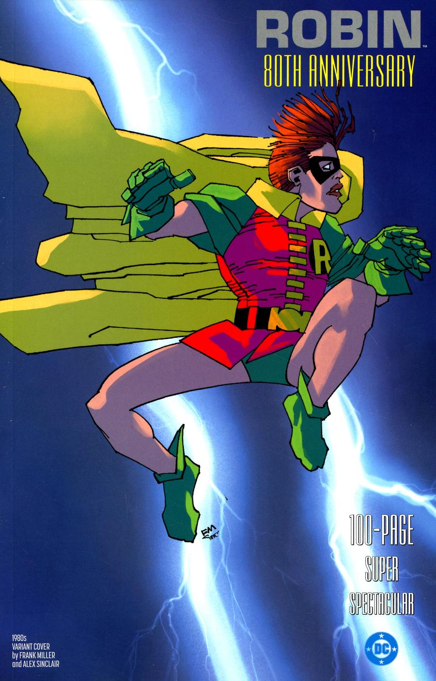 Robin 80th Anniversary 100-Page Super Spectacular #1 Cover F Variant Frank Miller 1980s Cover