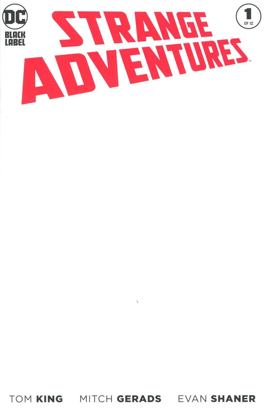 Strange Adventures Vol 4 #1 Cover C Variant Blank Cover