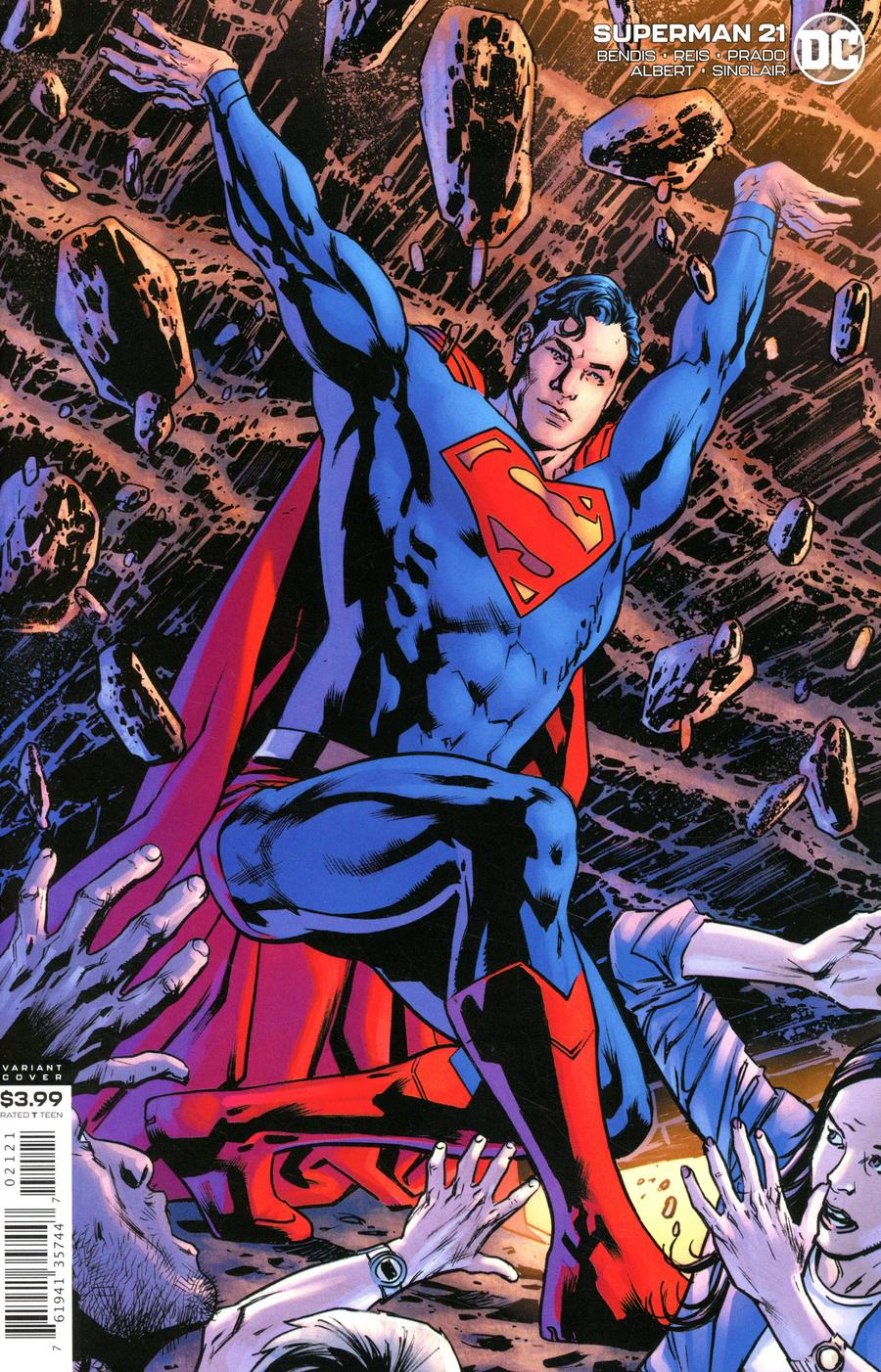 Superman Vol 6 #21 Cover B Variant Bryan Hitch Cover