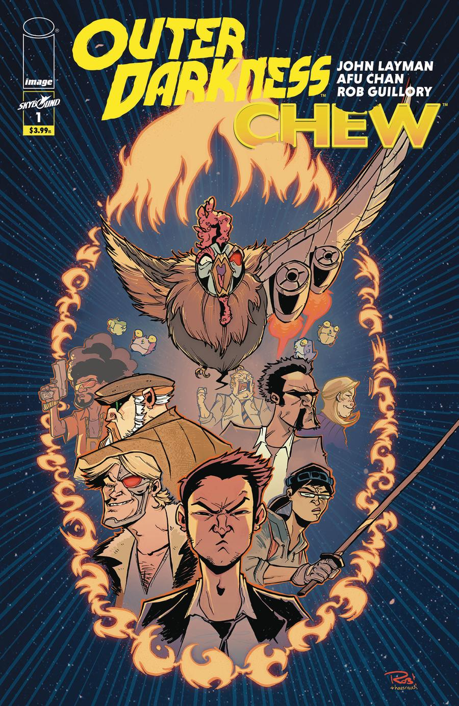 Outer Darkness Chew #1 Cover B Variant Rob Guillory Cover