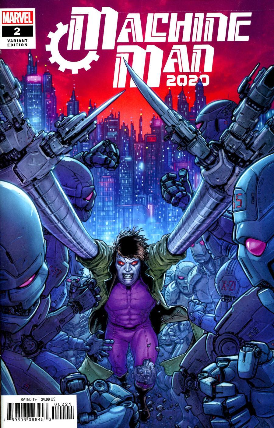 2020 Machine Man #2 Cover B Variant Juan Jose Ryp Cover