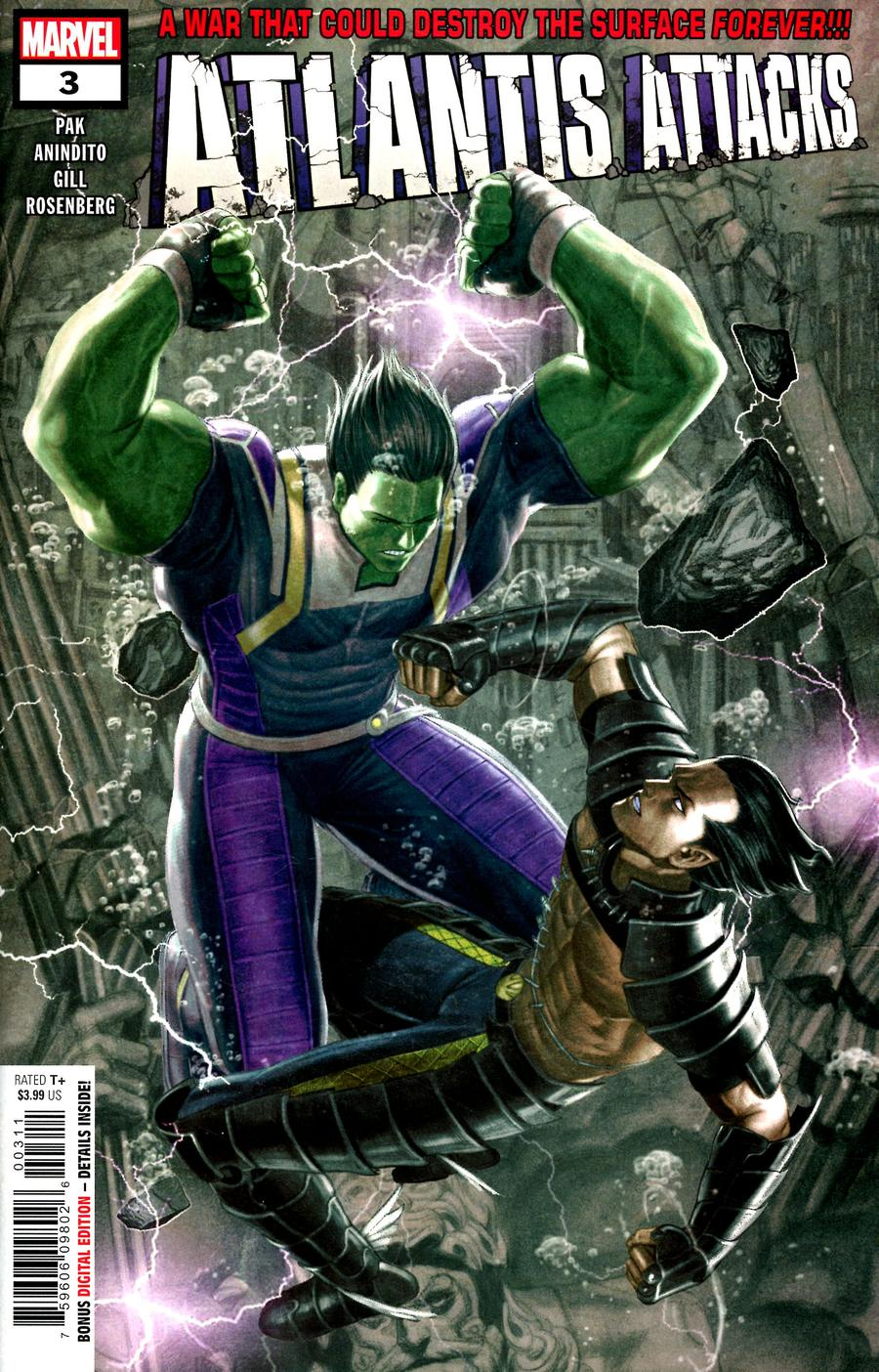 Atlantis Attacks #3 Cover A Regular Rock-He Kim Cover