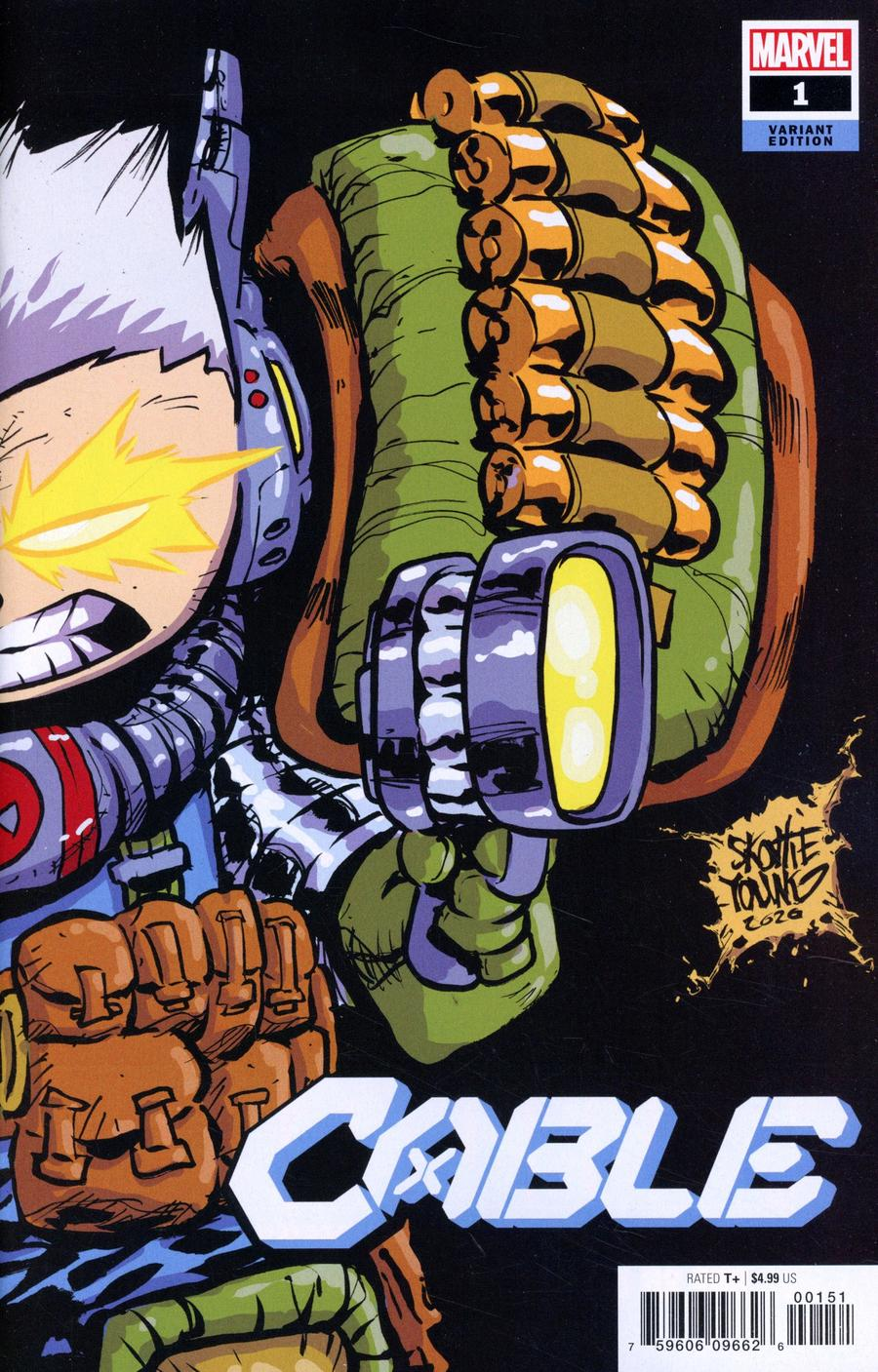 Cable Vol 4 #1 Cover B Variant Skottie Young Cover (Dawn Of X Tie-In)
