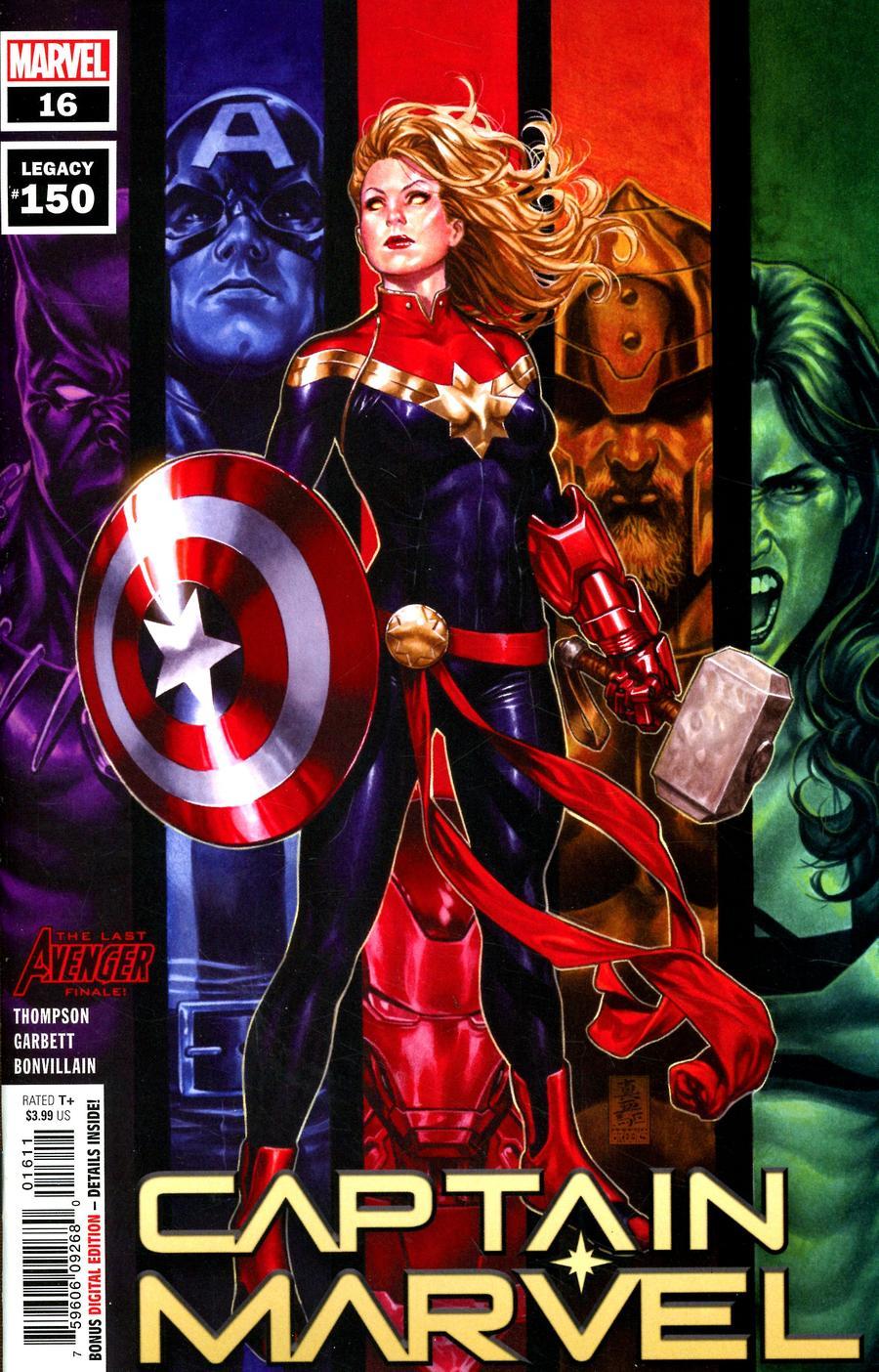 Captain Marvel Vol 9 #16 Cover A Regular Mark Brooks Cover