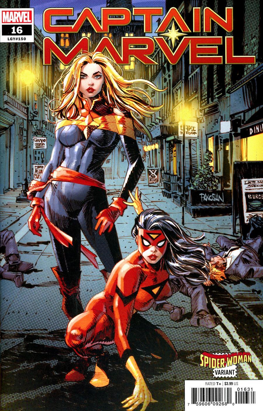 Captain Marvel Vol 9 #16 Cover B Variant Dan Panosian Spider-Woman Cover