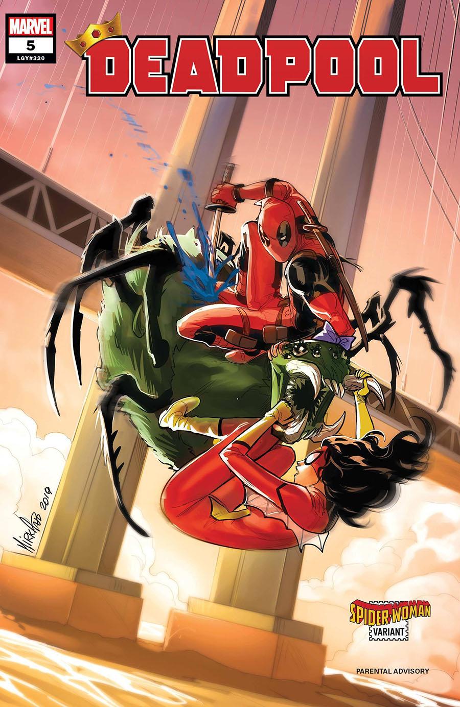 Deadpool Vol 7 #5 Cover B Variant Mirka Andolfo Spider-Woman Cover