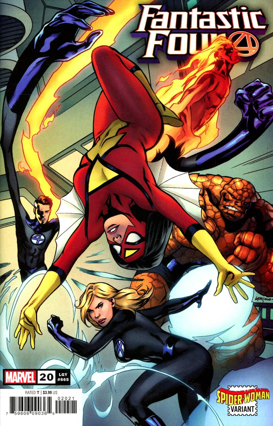 Fantastic Four Vol 6 #20 Cover B Variant Emanuela Lupacchino Spider-Woman Cover