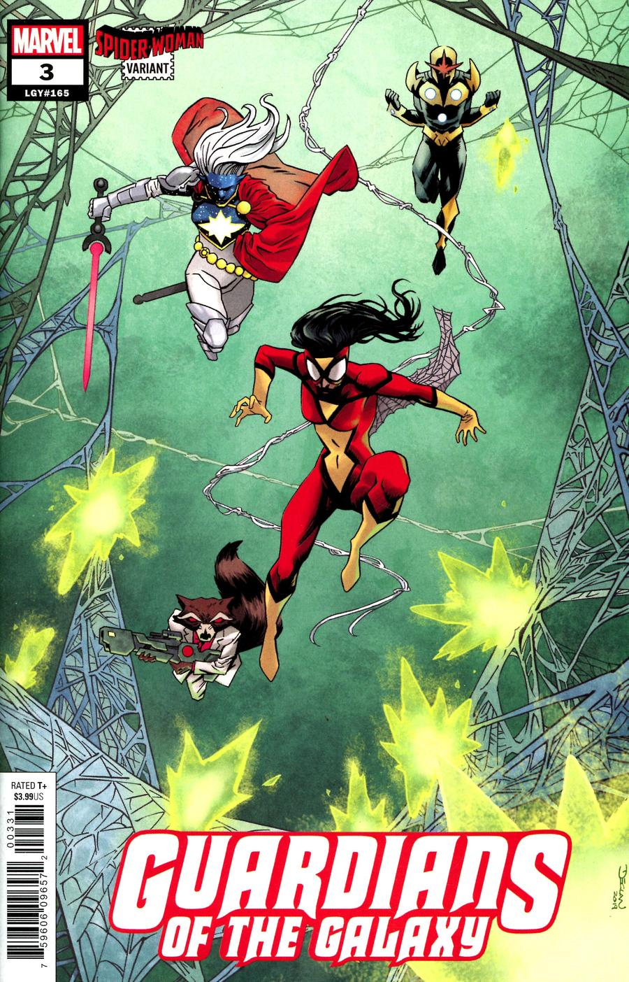 Guardians Of The Galaxy Vol 6 #3 Cover B Variant Declan Shalvey Spider-Woman Cover