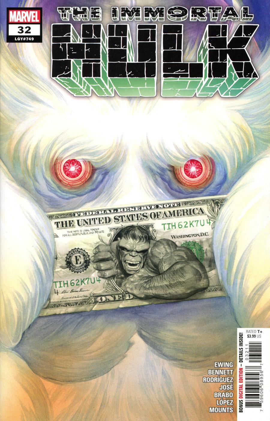 Immortal Hulk #32 Cover A Regular Alex Ross Cover